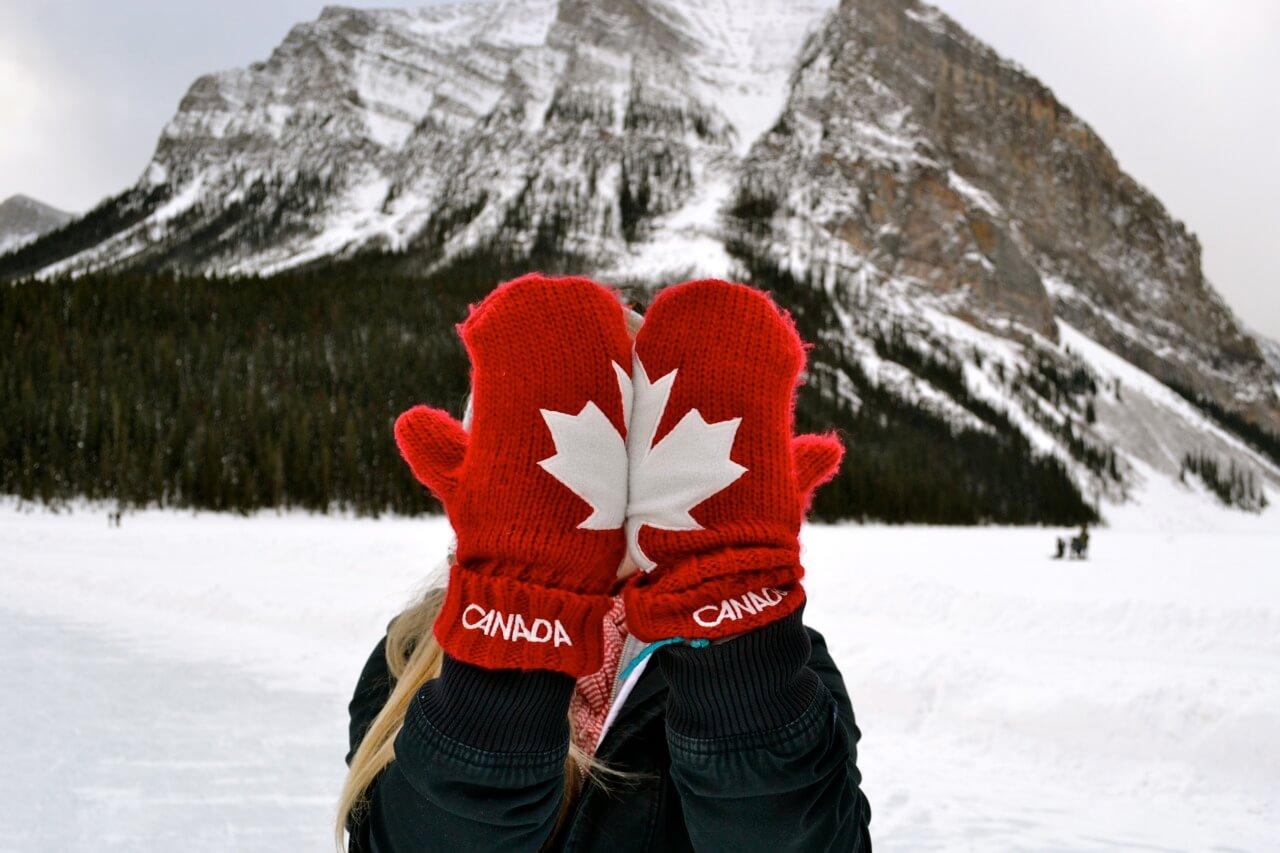 intercambio no Canadá montanhas e neve