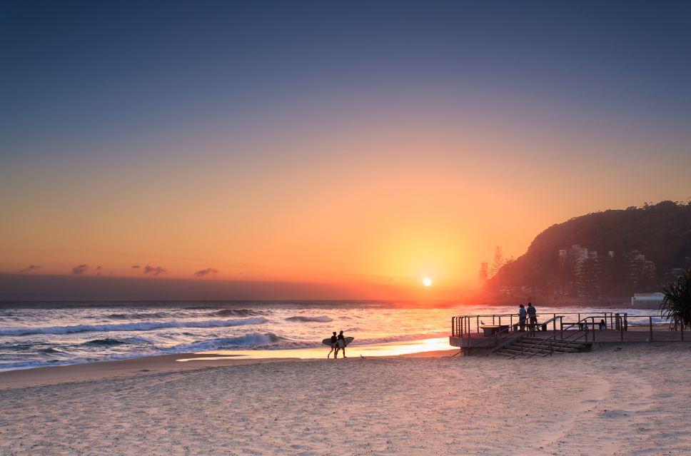 Pôr-do-sol-Gold-Coast-Austrália