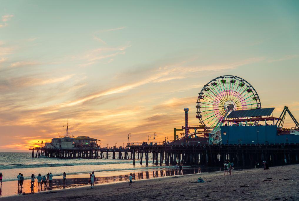 píer-de-Santa-Monica-Califórnia