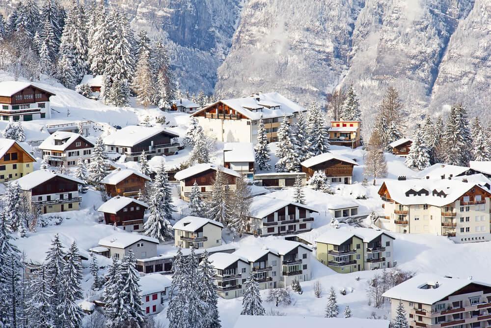 Durante o intercâmbio para a Suíça